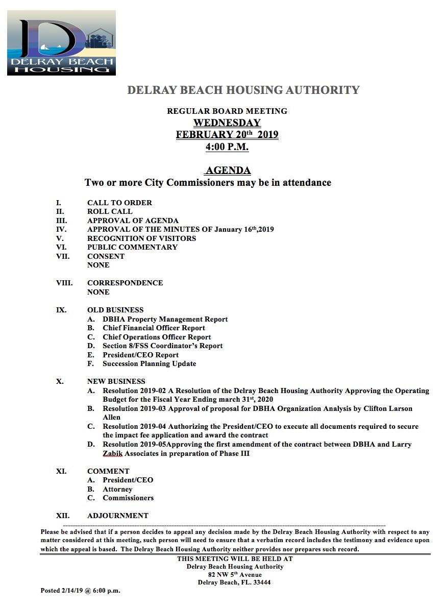 DBHA-Agenda-February-20th-2019
